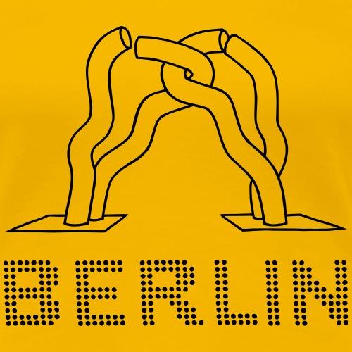 Skulptur Berliner Teilung - Frauen Premium T-Shirt