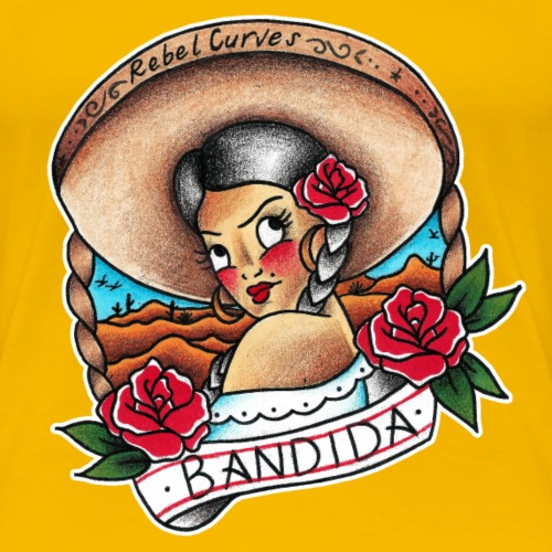 Rebel Curves Bandida Tattoo girl - Frauen Premium T-Shirt