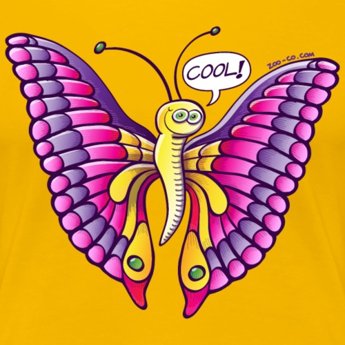 Coolorful Butterfly - Women's Premium T-Shirt