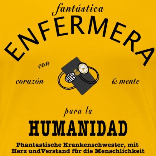 Phantastische Krankenschwester spanisch/deutsch - Frauen Premium T-Shirt