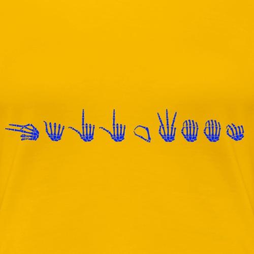 HALLOWEEN i skjelett-håndalfabeter (TEGNSPRÅK) - Premium T-skjorte for kvinner
