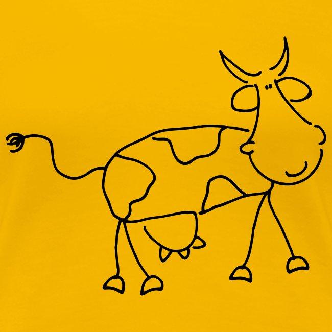 Happy Comic Cow