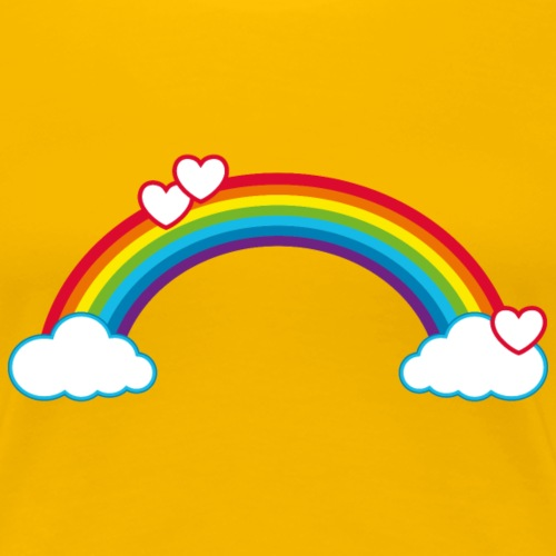 Regenbogen Sonne Herz Rainbow Cloud Heart - Women's Premium T-Shirt