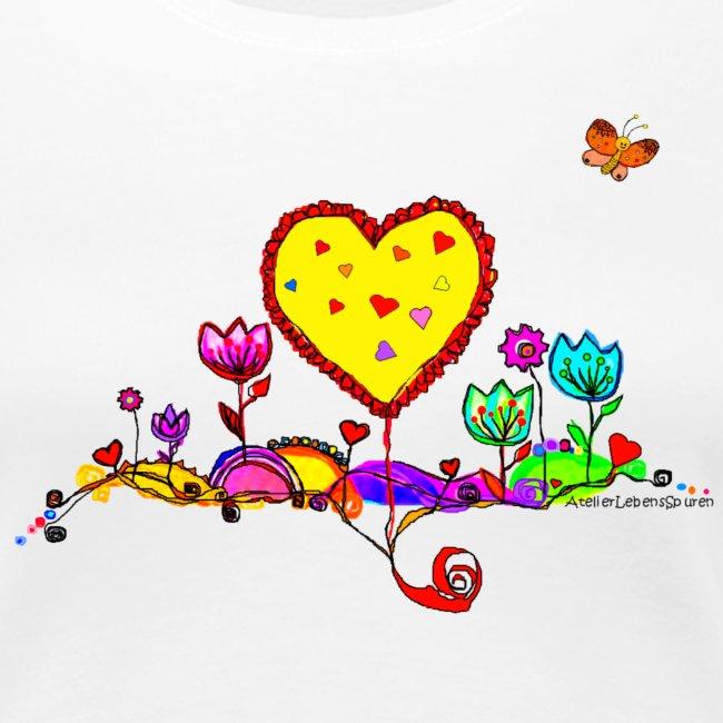 Blumengruß mit Herz