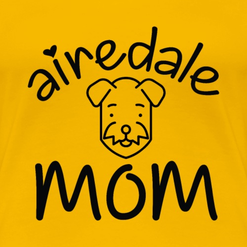Airedale Mom - Frauen Premium T-Shirt