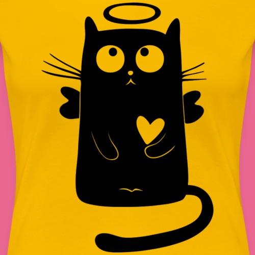 angelic cat - Camiseta premium mujer