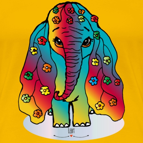 Happy Elefant - Frauen Premium T-Shirt