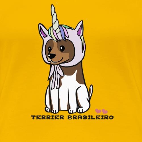 Terrier Brasileiro - Premium-T-shirt dam