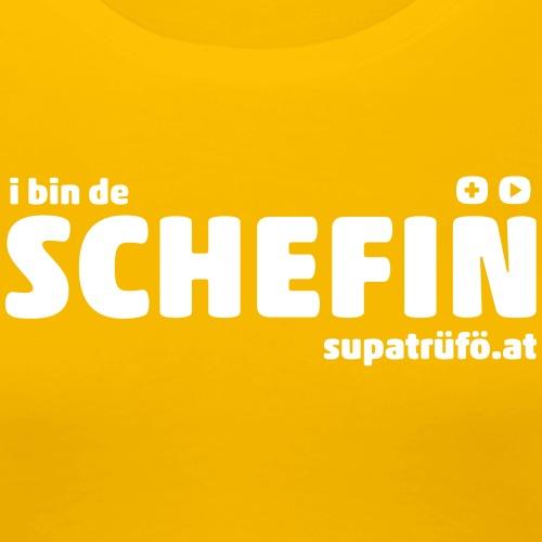 supatrüfö SCHEFIN - Frauen Premium T-Shirt