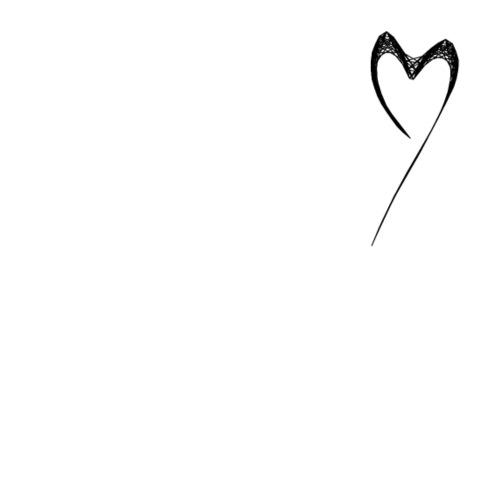 Line Heart - Camiseta premium mujer