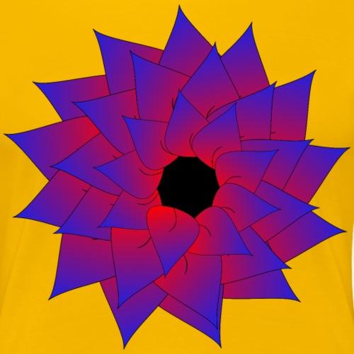 Red Blue Flower - Women's Premium T-Shirt