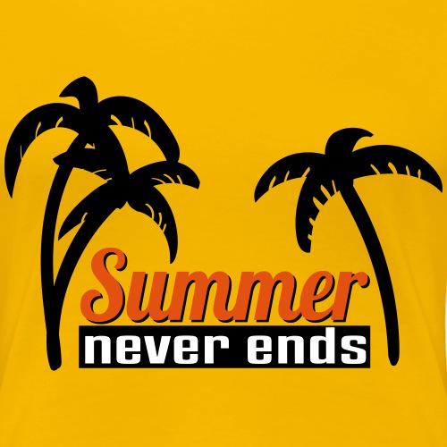 summer never end - Frauen Premium T-Shirt