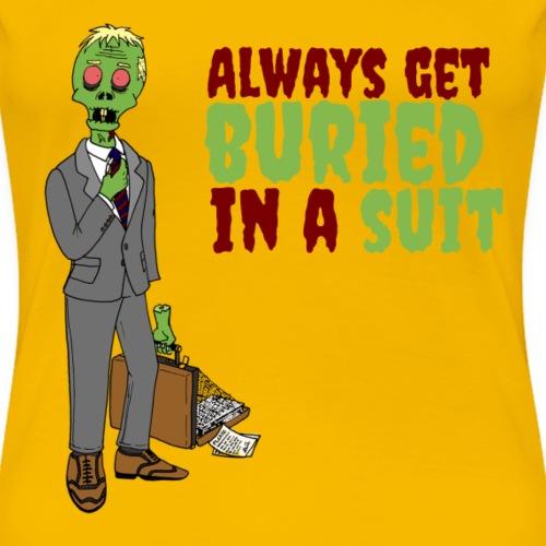 Buried in Suit - Women's Premium T-Shirt