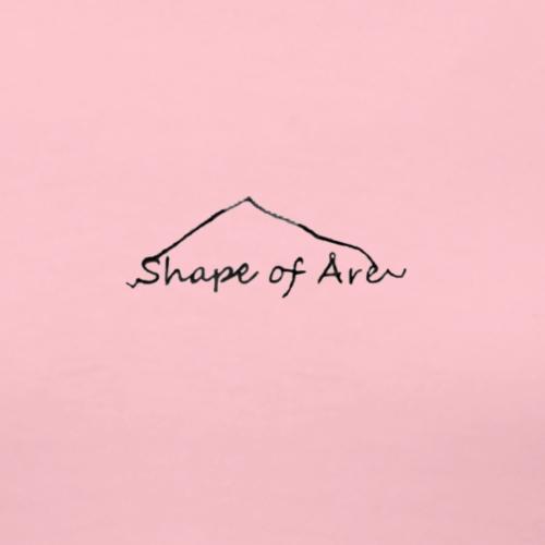 Shape of Åre snow - Premium-T-shirt dam