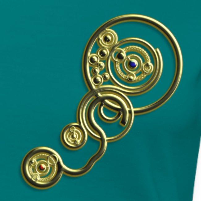 clockwork heart design image gold