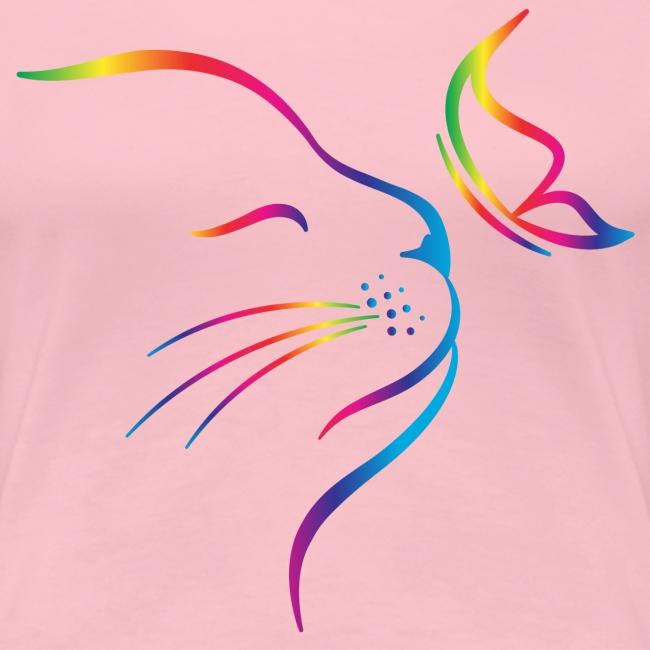 Vorschau: rainbow butterfly cat - Frauen Premium T-Shirt