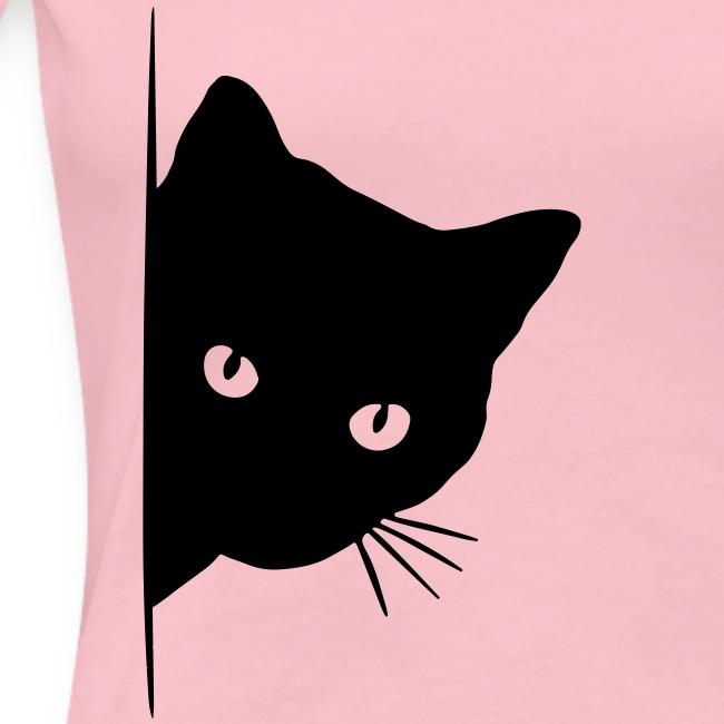 Vorschau: peeking cat - Frauen Premium T-Shirt