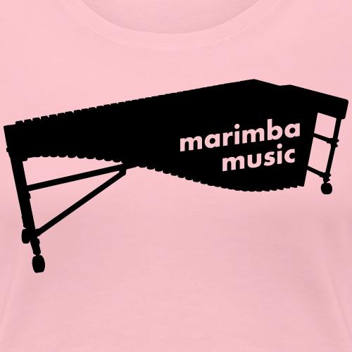 Marimba Music 2 Kontur - Frauen Premium T-Shirt