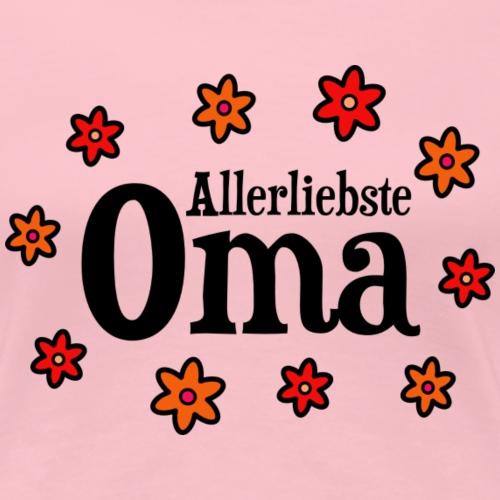 Allerliebste Oma Blumen Geschenk - Frauen Premium T-Shirt