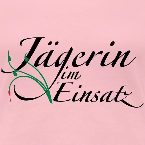 Jägerin im Einsatz - original Jägershirt - Frauen Premium T-Shirt