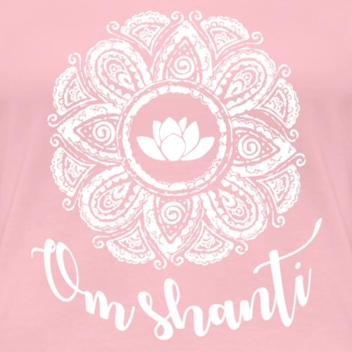 om shanti mandala weiß - Frauen Premium T-Shirt