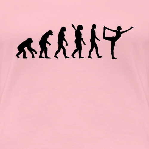 Evolution of Yoga - Frauen Premium T-Shirt