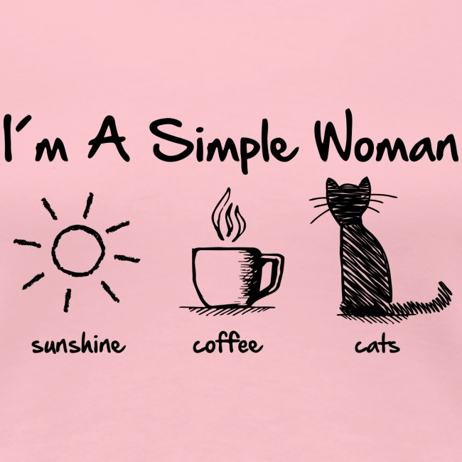 Vorschau: simple woman cats - Frauen Premium T-Shirt