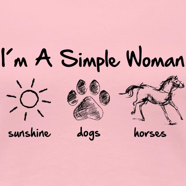 Vorschau: simple woman horse dog - Frauen Premium T-Shirt