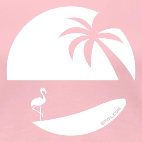 Logo French Floridian blanc - T-shirt Premium Femme