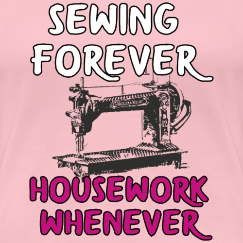 Lustiger Spruch Nähmaschine Mama Shirt Geschenk - Frauen Premium T-Shirt