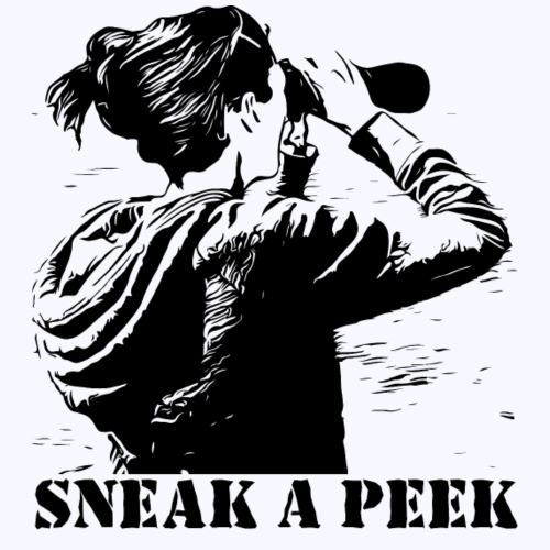 sneak a peek - Frauen Premium T-Shirt