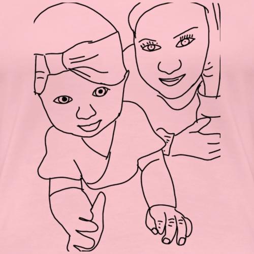 Hygge Mutter&Tochter - Frauen Premium T-Shirt