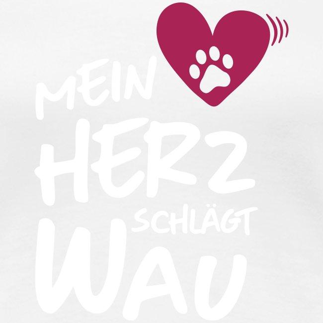 Vorschau: Mein Herz schlägt Wau - Frauen Premium T-Shirt