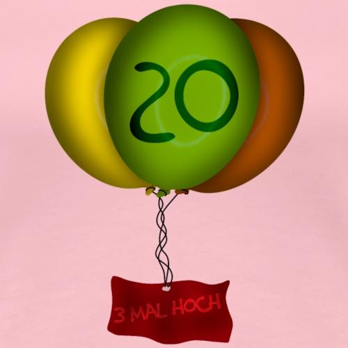 Geburtstag 20 Jahre - Frauen Premium T-Shirt