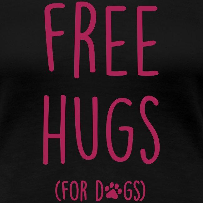 Vorschau: free hugs for dogs - Frauen Premium T-Shirt
