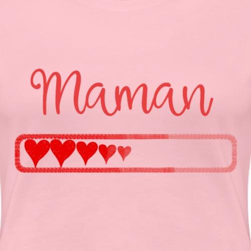 maman en chargement - T-shirt Premium Femme