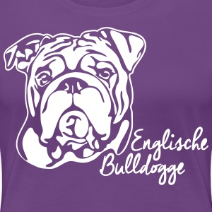 ENGLISH BULLDOG PORTRAIT - Women's Premium T-Shirt