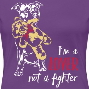 LOVER NOT A FIGHTER - Staffordshire - Women's Premium T-Shirt