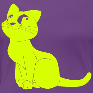 cat obediently - Women's Premium T-Shirt