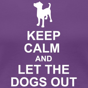 Keep Calm Dog Hotel - Women's Premium T-Shirt