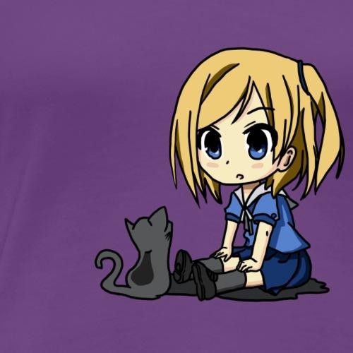 Manga Lilly Blau - Frauen Premium T-Shirt