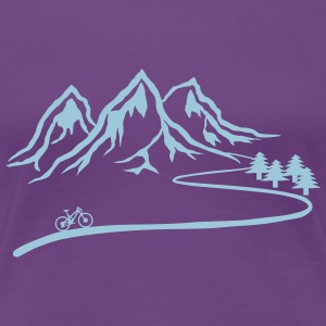 Mountainbike Trail - Women's Premium T-Shirt