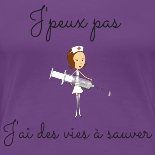 Infirmiere - T-shirt Premium Femme