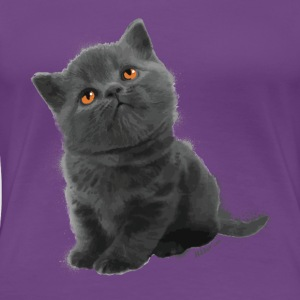 The British Shorthair - Cute Kitten - Women's Premium T-Shirt