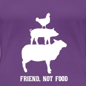 Friend. inte mat - Premium-T-shirt dam