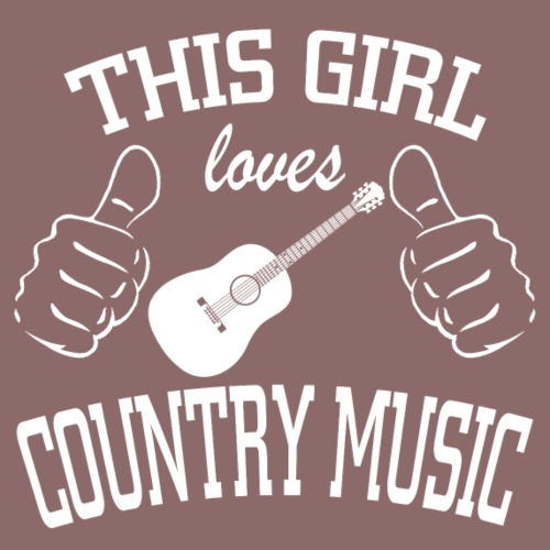 This girl loves country music - Women's Premium T-Shirt