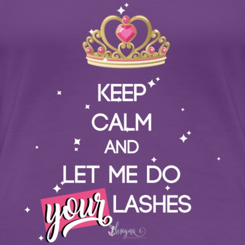 keep calm lashes - Frauen Premium T-Shirt