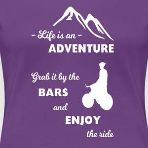 Mountain Bike Adventure - Vrouwen Premium T-shirt