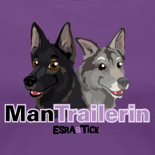 ManTrailerin - Women's Premium T-Shirt