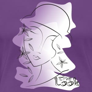 Face 11 violet (série The Look) - T-shirt Premium Femme